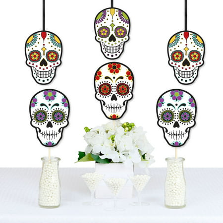 Cute Diy Halloween Decorations (Day Of The Dead - Sugar Skull Decorations DIY Halloween Party Essentials - Set of)