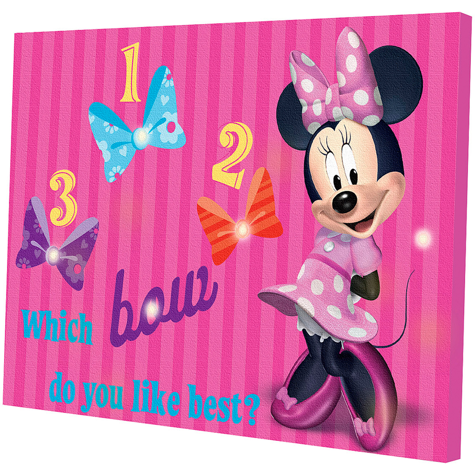 Minnie Mouse Light Up Canvas Wall Art with BONUS LED Lights