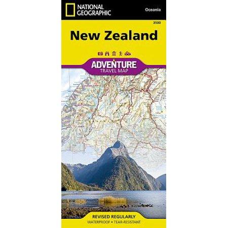 Adventure map: new zealand - folded map: 9781566955492 (Framed Map Of New Zealand)
