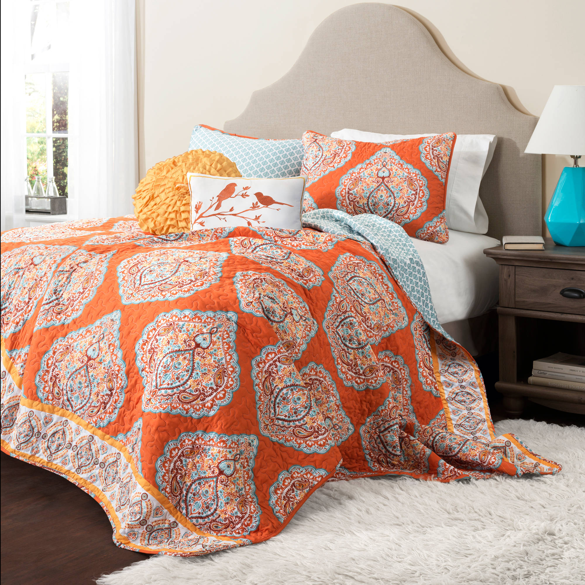 Harley Quilt Tangerine 5-Piece Set by Generic