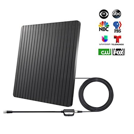 rocam hd tv antenna indoor digital long range tv antenna 65+ miles with  amplifier signal booster, usb supply support hd 1080p vhf uhf all tv's