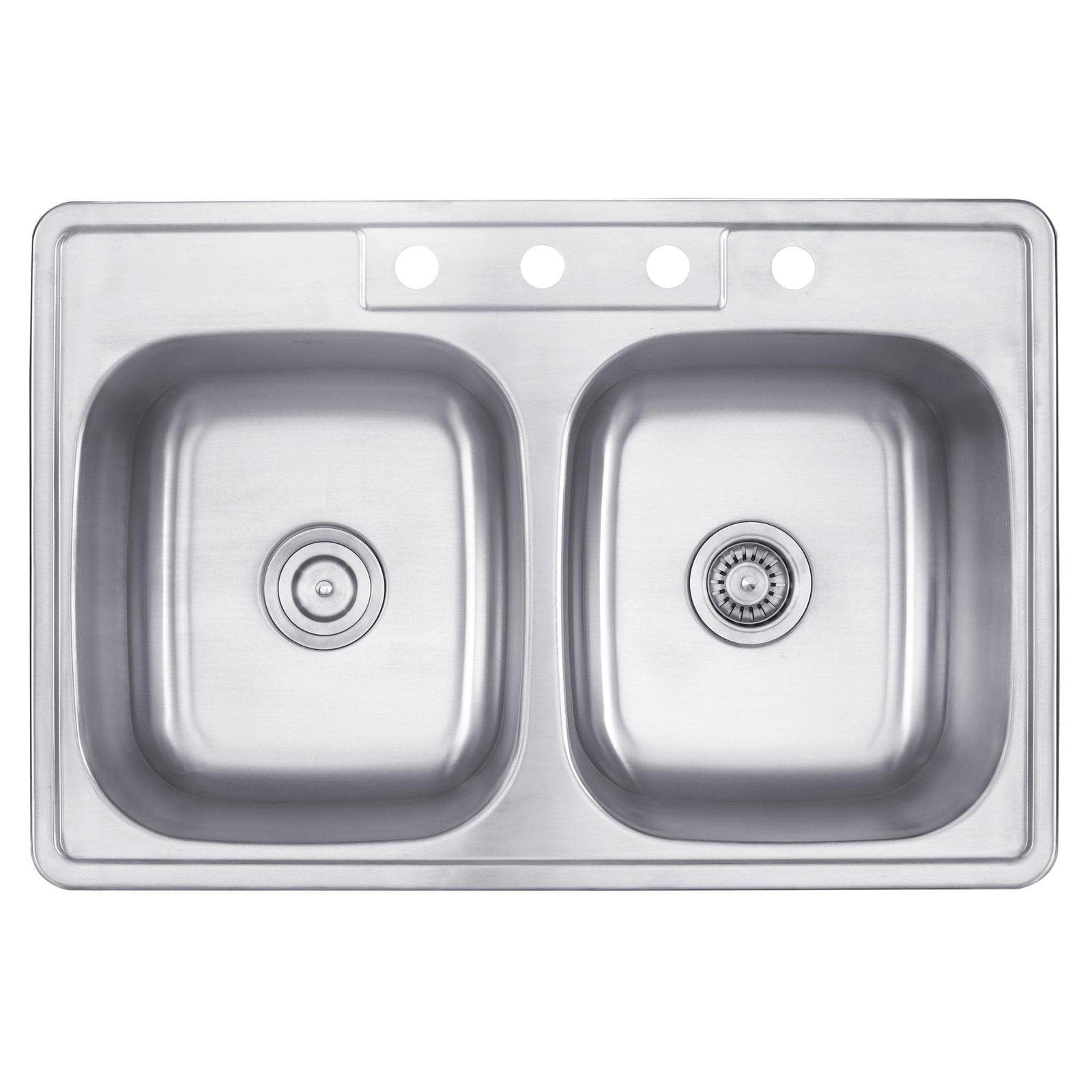 Kraus Ktm33 Double Basin Drop In Kitchen Sink