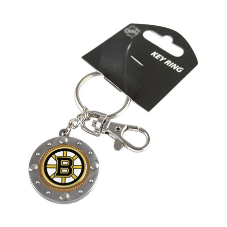 Boston Bruins Sports Team Logo NHL Impact Metal Key Ring Keychain