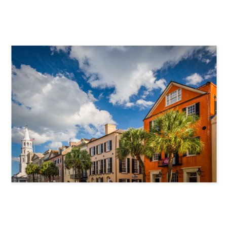 Charleston Gallery - NOIR Gallery Charleston South Carolina Colorful Architecture Canvas Wall Art