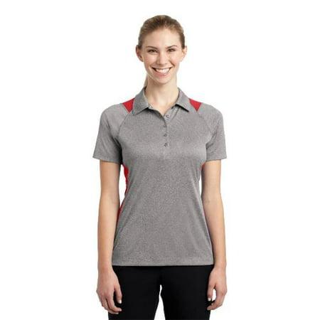 Sport-Tek® Ladies Heather Colorblock Contender™ Polo. Lst665 Vintage Heather/ - image 1 de 1