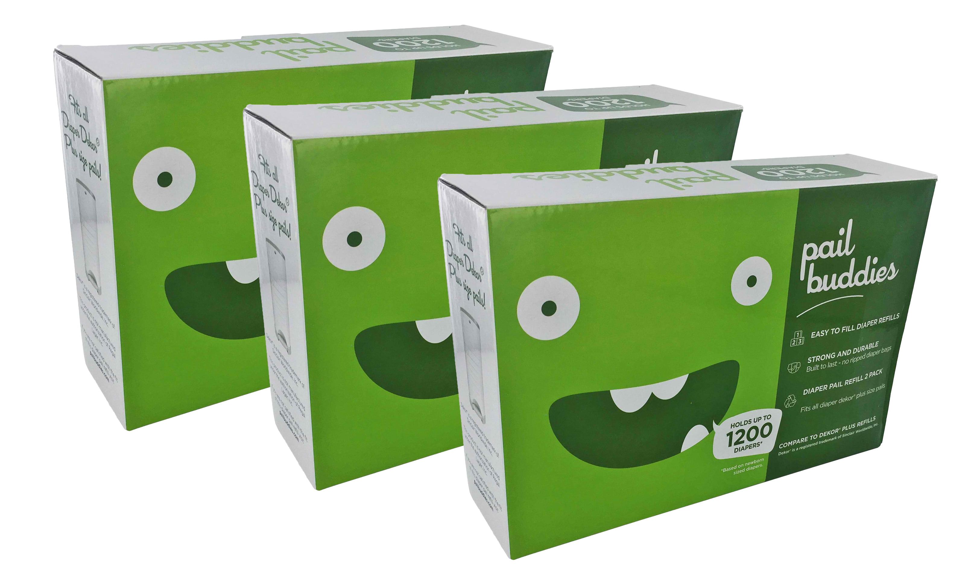 Pail Buddies Diaper Pail Refills For Diaper Dekor Plus Diaper Pails 6 Pack by Pail Buddies