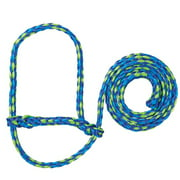 weaver leather  poly rope sheep halter lime green/hurricane blue/royal blue