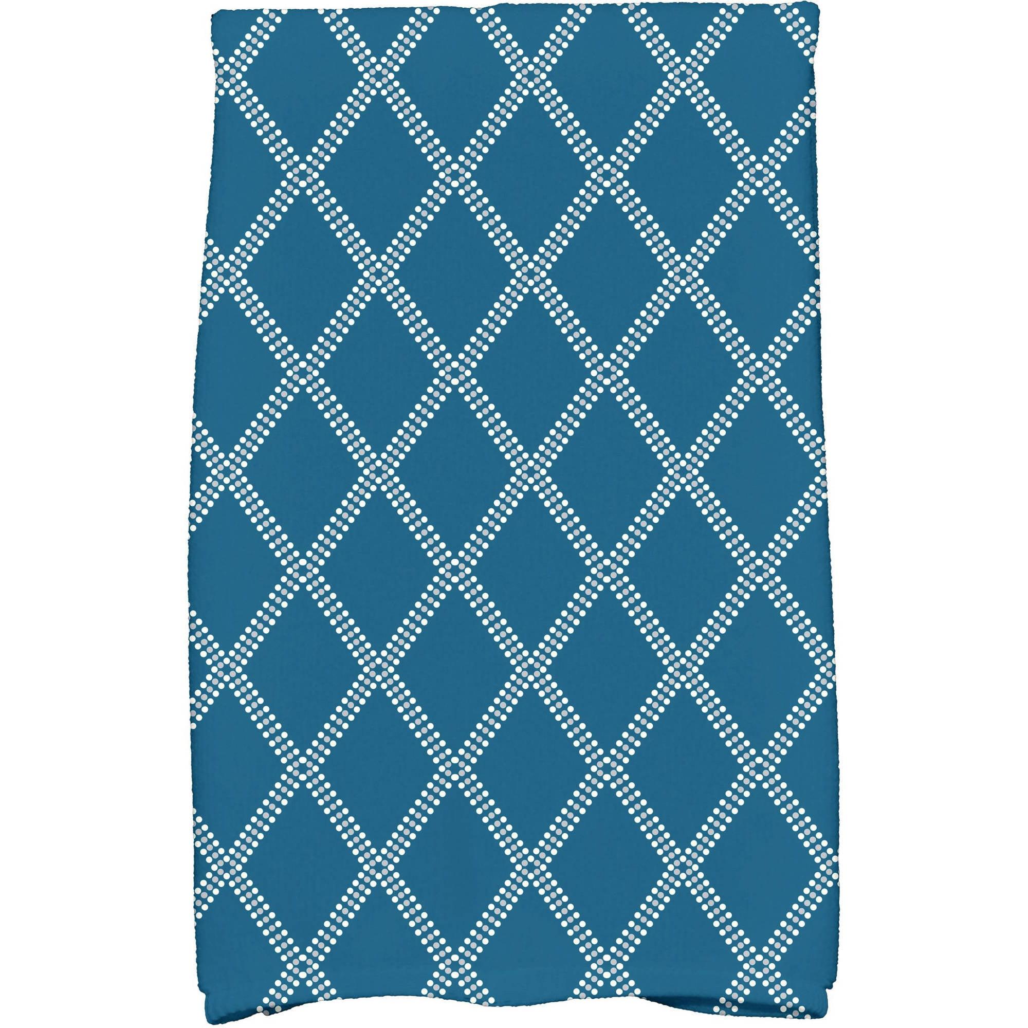 "Simply Daisy 16"" x 25"" Diamond Dots Holiday Geometric Print Kitchen Towel by E By Design"