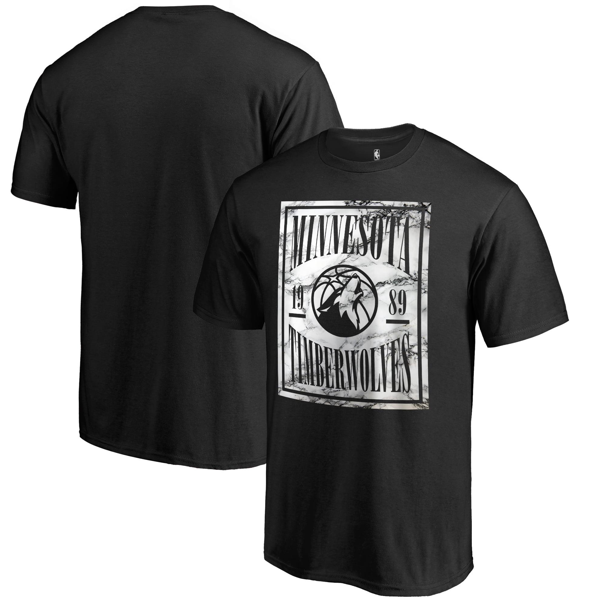 Fanatics Branded Minnesota Timberwolves Black Court Vision T-Shirt