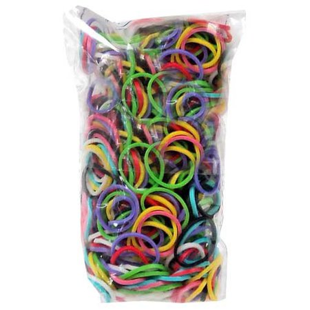Colorful Silicone LOOM BANDS - 600 Bands & 25