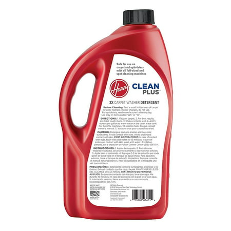 Hoover CleanPlus 2X Concentrated Carpet Cleaner Solution and Deodorizer, 64Oz, AH30330NF
