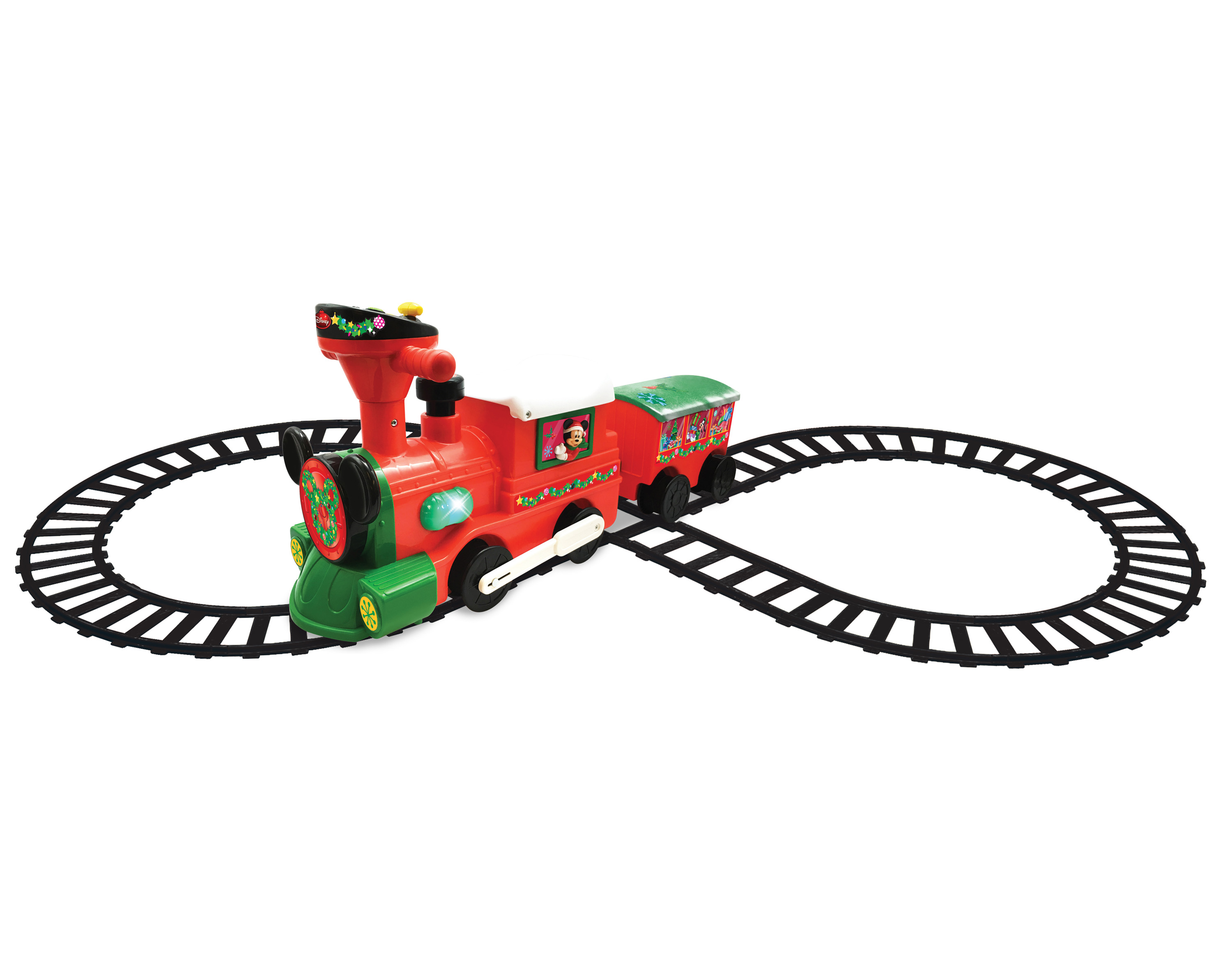Kiddieland Disney Mickey & Minnie Mouse 2-in-1 Battery-Powered Christmas Train with... by Kiddieland