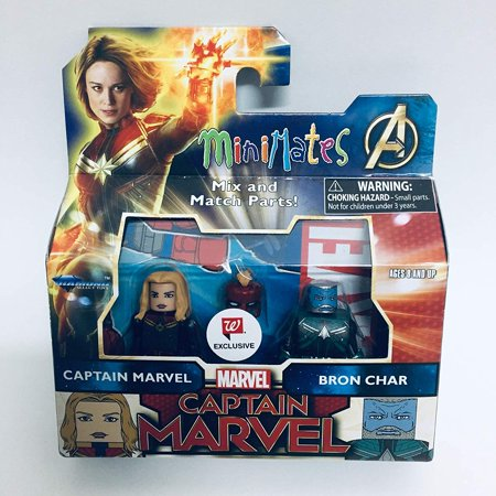 Char Diamonds - DIAMOND SELECT TOYS Minimates Captain Marvel - Captain Marvel & Bron Char Exclusive Minifigues