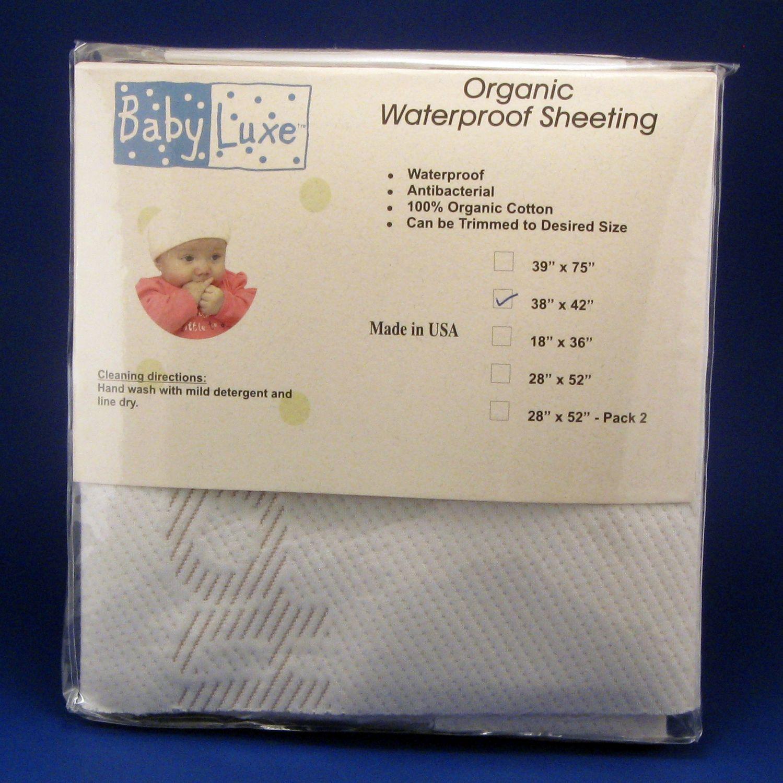 Baby Luxe by Priva Organic Waterproof Sheet