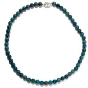V3designs Sterling Silver Apatite Bead Necklace (18 or 36 inches)