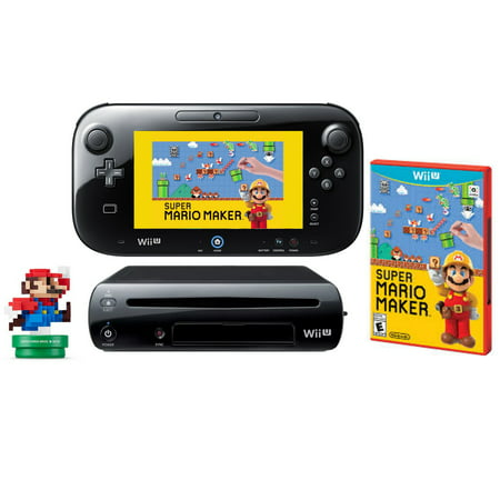 Refurbished Nintendo Wii U WiiU Super Mario Maker Console Deluxe Set 32GB w Amiibo - Super Products New Berlin Wi