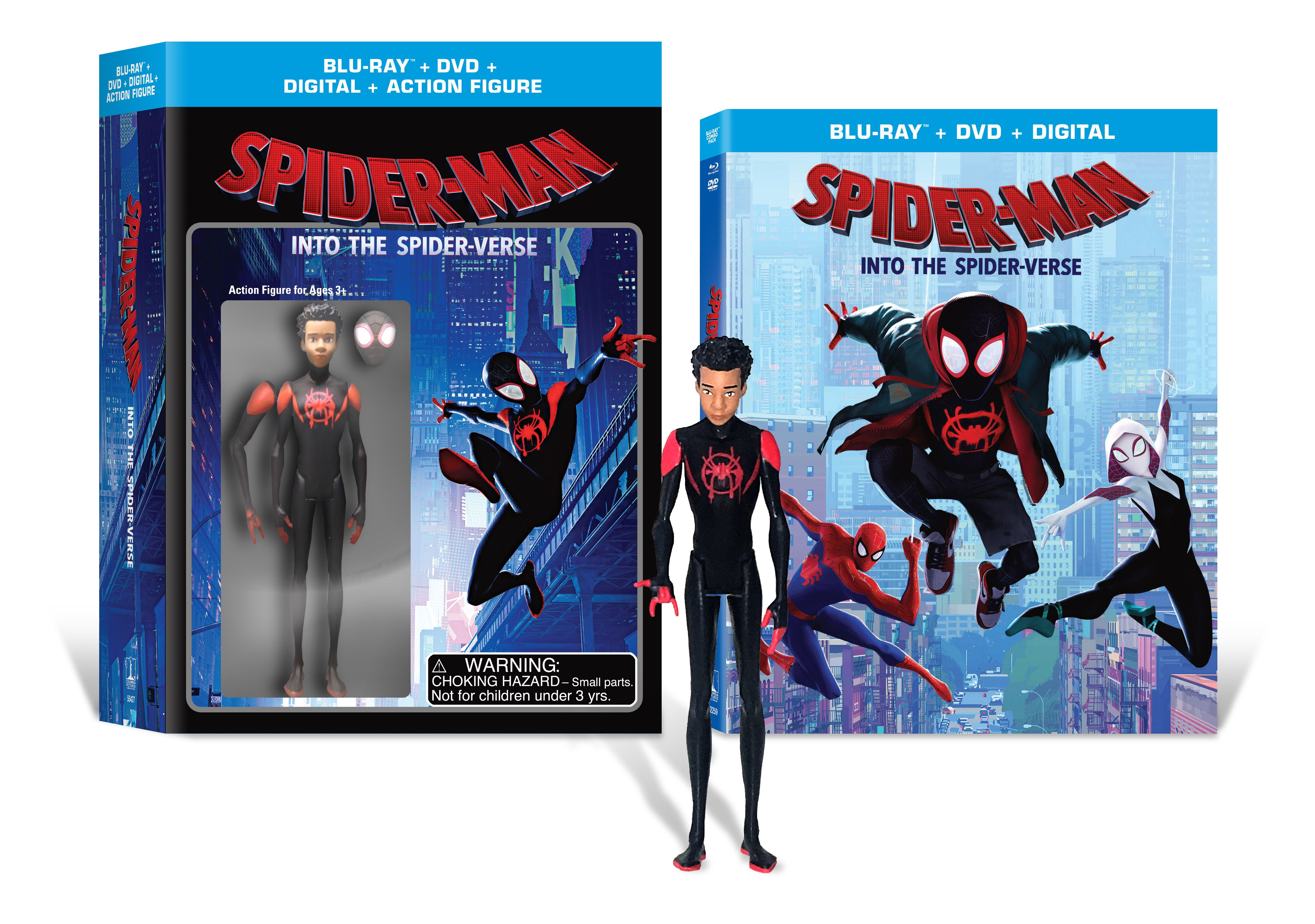 d52a3657 Spider-Man: Into the Spider-Verse (Walmart Exclusive) (Blu-Ray + DVD +  Digital Copy + Action Figurine) - Walmart.com
