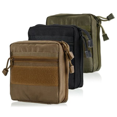 1*Tactical Molle Pouch Military Hiking Camping First Aid Nylon Bags Phone Pocket MZ
