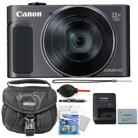 Canon PowerShot SX620 HS 20.2 MP 25X Optical Zoom Wifi / NFC Enabled Point and Shoot Digital Camera Black + All You Need (Canon Powershot Sx620 Hs 20-2 Megapixel Digital Camera)