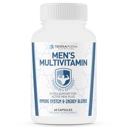 Men's Multivitamin – Daily Support for Men's Nutritional Needs – Includes Immune & Energy Boosting Ingredients – Over 30 Active Ingredients – Made in USA – 1 Month (Daily Nutrition 30 Tabs)