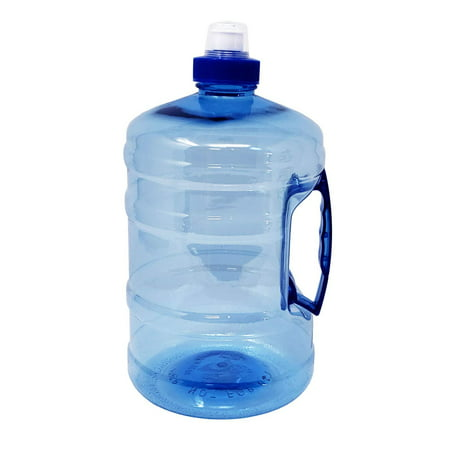 Large Capacity Sports Drinking Water Bottle Jug with Handle, Leak Proof for Gym Bodybuilding Hiking Workout Office Home | ½ Gallon 2.2 Liters 75 oz | ()