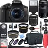 """Canon T6i EOS Rebel DSLR Camera w/ EF-S 18-55mm & 75-300mm III Lens Kit + Accessory Bundle 64GB SDXC Memory + SLR Photo Bag + Wide Angle Lens + 2x Telephoto Lens + Flash + Remote + Tripod & More """" 24.2 Megapixel CMOS Sensor EOS Full HD Movie Built-in Wi-Fi & NFC Authorized Canon Dealer USA Warranty Wireless Takes EOS Rebel to The Next Level For gorgeous, high-quality photos and videos that are easy to share, look to the Canon EOS Rebel T6i camera. The EOS Rebel T6i does more, easier, making capturing photos and shooting videos a breeze. Its high-resolution 24.2 Megapixel CMOS (APS-C) sensor means finely detailed, crisp and natural-looking photographs. An updated light-metering system means well-exposed images. HD videos are effortless with the EOS Rebel T6i's advanced AF that provides speedy and precise focus on subjects. Canon's advanced EOS Scene Analysis system automatically adjusts the camera's settings to produce the best results whether shooting friends, landscapes, sports scenes and in tricky light situations. A first ever for the EOS Rebel line, built-in Wi-Fi and NFC are now available! Wireless connectivity provides a seamless way to exchange images and movies with compatible devices. It's easier and more convenient than ever to share movies and photos, no matter the location. Near Field Communication (NFC) allows for easy pairing with compatible Android devices and Canon's new Connect Station CS100 device! With fast performance in a number of shooting environments, the EOS Rebel T6i does the hard work, letting you focus on making gorgeous photos and HD movies. 24.2 Megapixel (APS-C) CMOS sensor The EOS Rebel T6i camera has a next-generation 24.2 Megapixel CMOS (APS-C) sensor that can capture images of incredible depth and beauty. With high resolution and an ISO sensitivity of ISO 10012800 (expandable to H: 25600) the EOS Rebel T6i can capture images of immense quality in more lighting situations. Advanced technologies combined with sophisticated automatic """