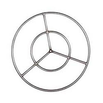 "19"" Diameter Stainless Steel Fire Ring"