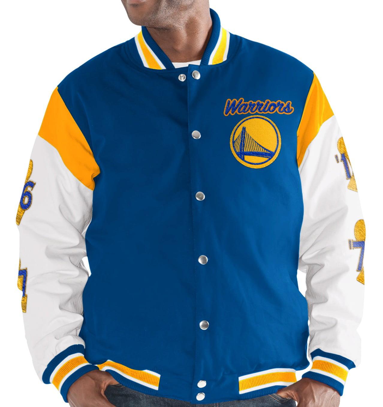 "Golden State Warriors G-III NBA ""Elite"" Men's Premium Canvas Varsity Jacket by G-III Sports"