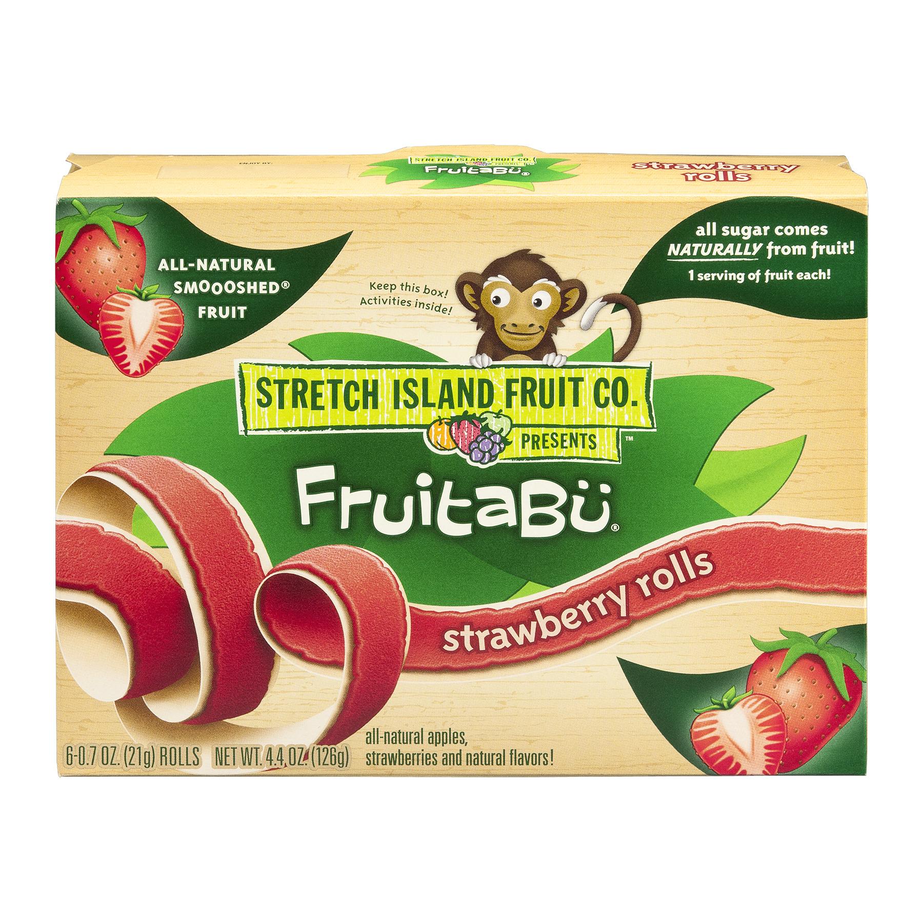 Stretch Island Strawberry Fruitabü Rolls, 4.4 Oz.