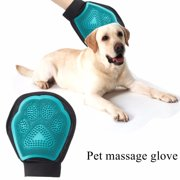 MEJOY Pet Cat Dog Grooming Glove Cleaning Massage Hair Gently Removes Loos Hair Bath Brush Comb Blue