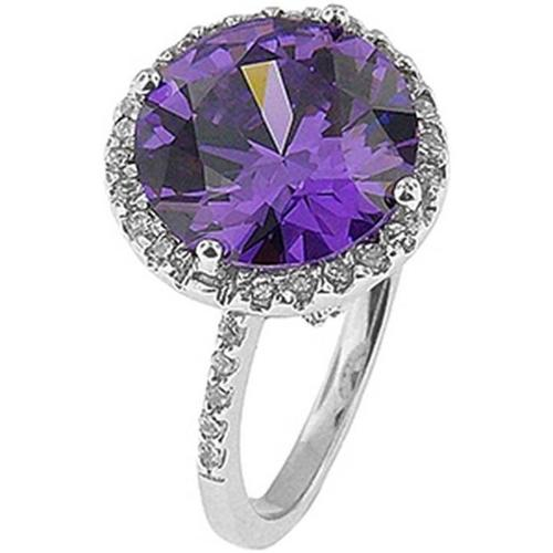 Doma Jewellery SSRZ032PR7 Sterling Silver Ring With CZ, Size 7