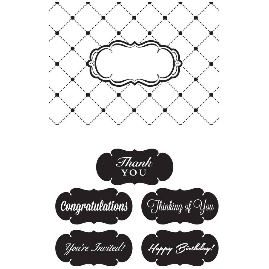 "CGull Interchangeable Embossing Folder, 4.5"" x 6.5"", Thank You"