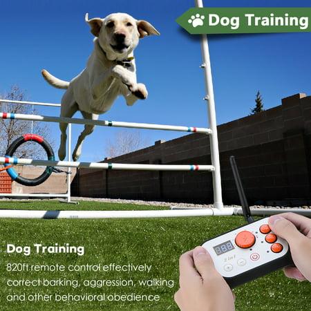 Qiilu Dog Fence & Rechargeable Dog Training System 2 in 1 Kit with Training Collar, 2 in 1 Dog Training System, Dog Fence - image 7 de 8