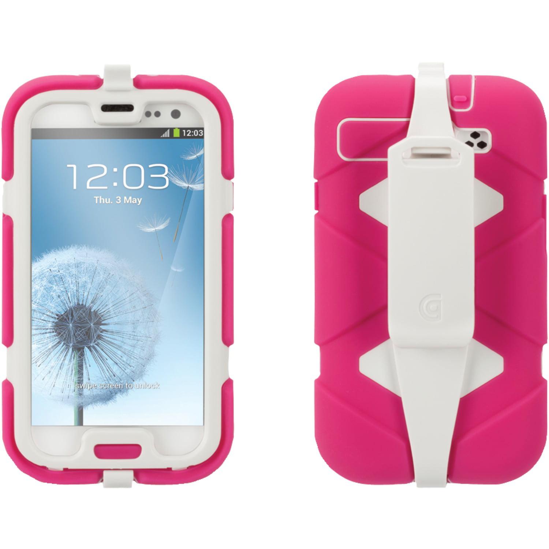 GRIFFIN GB36054-2 Samsung(R) Galaxy S(R) III Survivor Case with Belt Clip (Honeysuckle/White)
