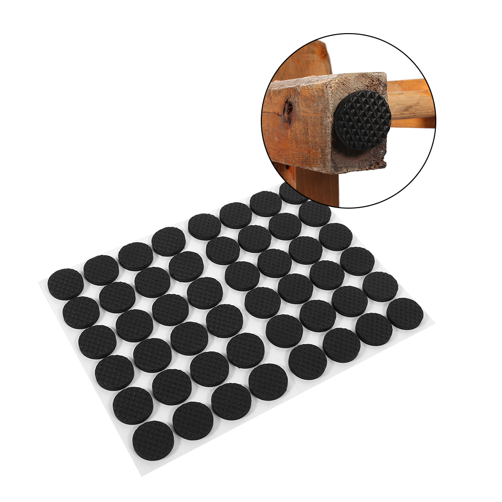 Keenso 48Pcs Black Non Slip Self Adhesive Floor Protectors Furniture Sofa  Table Chair Rubber Feet