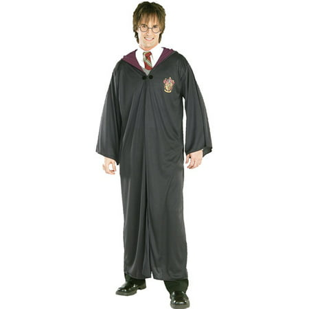 Harry Potter Gryffindor Robe Adult Halloween Costume (Scary Halloween Costumes On A Budget)