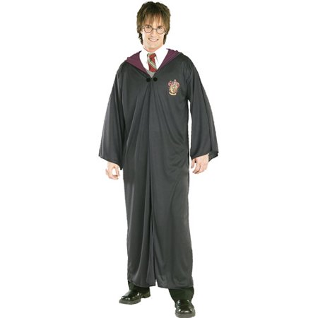 Harry Potter Gryffindor Robe Adult Halloween Costume (Diy Lobster Halloween Costume)