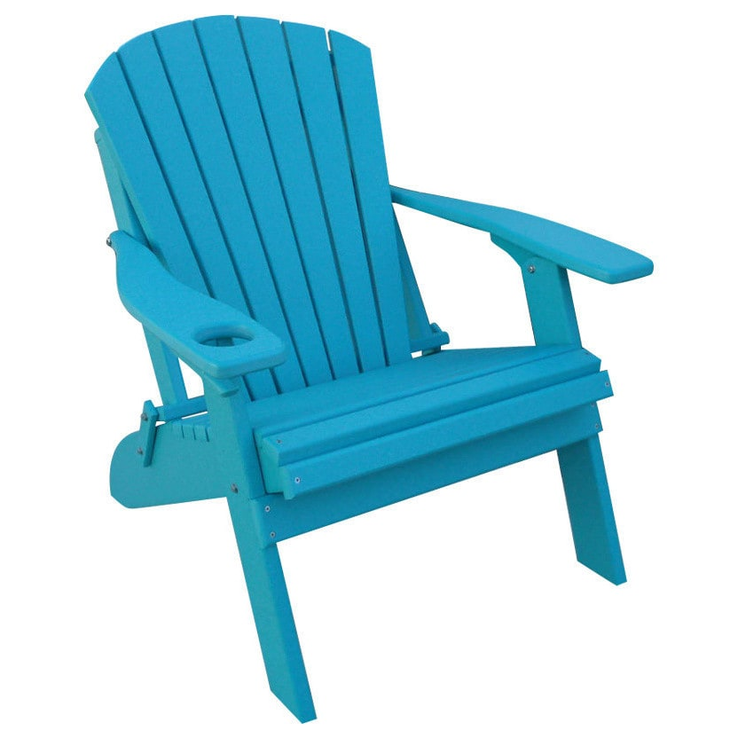 Kunkle Holdings LLC Poly Adirondack BIG BOY Chair- OVERSIZED - 1 Cup Holder