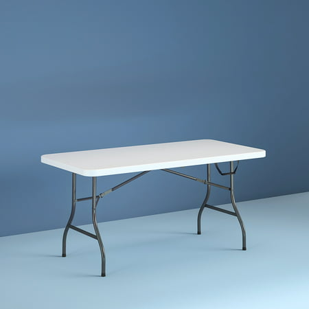 Cosco 6 Foot Centerfold Folding Table, White ()