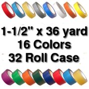 Vinyl Marking Tape 1-1/2 inch x 36 yard (32 Roll Case) - White