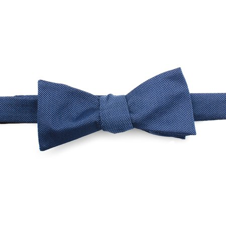 Ox and Bull Trading Co Blue Solid Color Silk Bow Tie Wedding Formal Prom Tuxedo