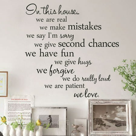 Wall Sticker Creative English Letter Removable Wall Decal Wall Decor Decal for Living Room (Living Room Mantel Decor)