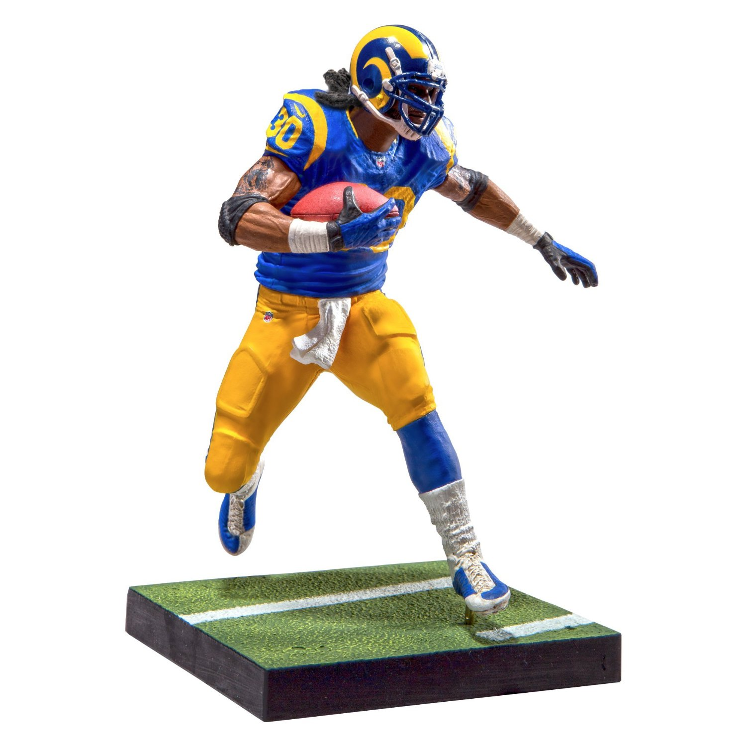 Todd Gurley Action Figure Blue Jersey NFL Los Angeles Rams