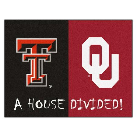 House Divided: Texas Tech / Oklahoma House Divided Rug - Oklahoma State Rug