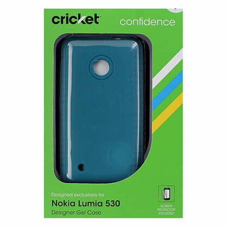Cricket Designer Soft Gel Case for Nokia Lumia 530 - Dark Teal (Nokia Lumia 530 Cricket)