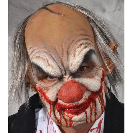 Zagone Smiley Supersoft Clown Full Head Mask, Multicolors, One Size