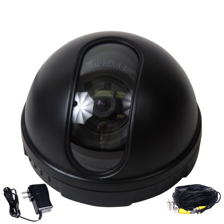 VideoSecu Indoor Video Dome Security Camera Color 1/3