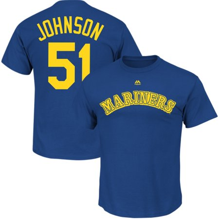 Randy Johnson Seattle Mariners Majestic Big & Tall Cooperstown Player Name & Number T-Shirt - -