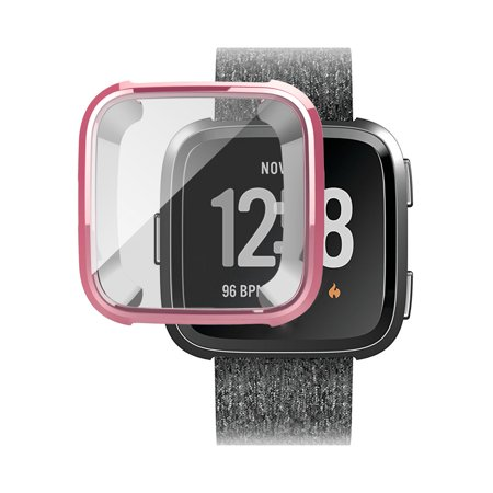 TSV Silicone Protective TPU Shell Case Screen Protector Frame Cover For Fitbit (Best App For Fitbit Flex)
