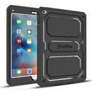 Fintie iPad mini 4 Case Rugged Hybrid Full Protective Cover Built-in Screen Protector Impact Resistant Bumper, Black